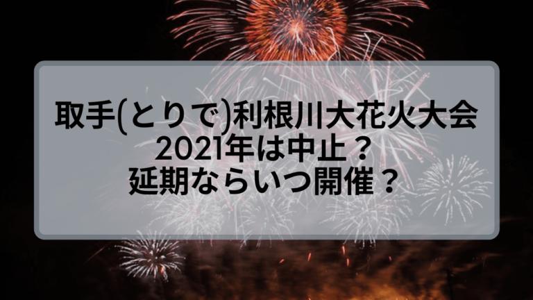 取手(とりで)利根川大花火大会2021は中止?延期ならばいつ開催?
